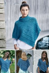 Poncho stickad i Esther by Permin